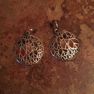 Lucky Brand Peace Earrings